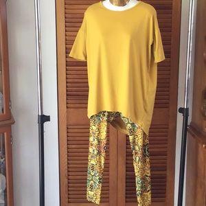 LulaRoe XXS Gold Irma and One Size Leggings